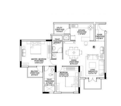 Sterling Shalom Phase II, Bangalore - Floor Plan