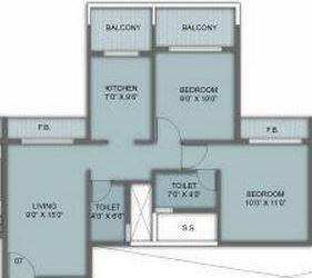 Rachana Mangala Residency, NaviMumbai - Floor Plan