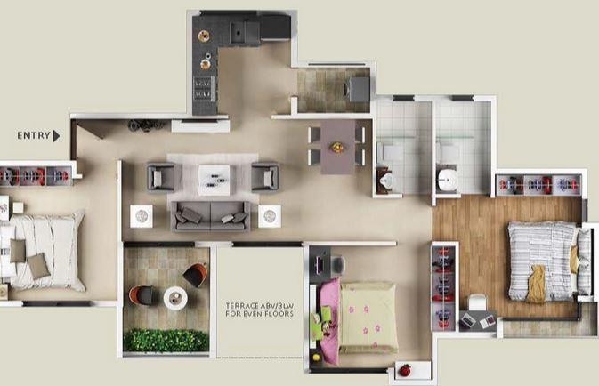 Vilas Javdekar Prudentia Towers, Pune - Floor Plan