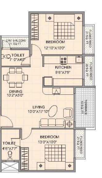 Satyam Exotica, NaviMumbai - Floor Plan