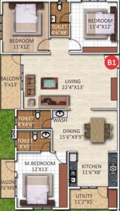 ARV Temple Tree, Bangalore - Floor Plan