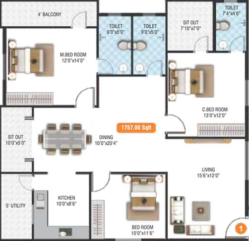 BM Glorietta, Bangalore - Floor Plan