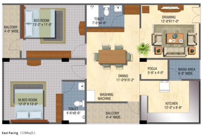 Sanaathana Chamanthi, Bangalore - Floor Plan