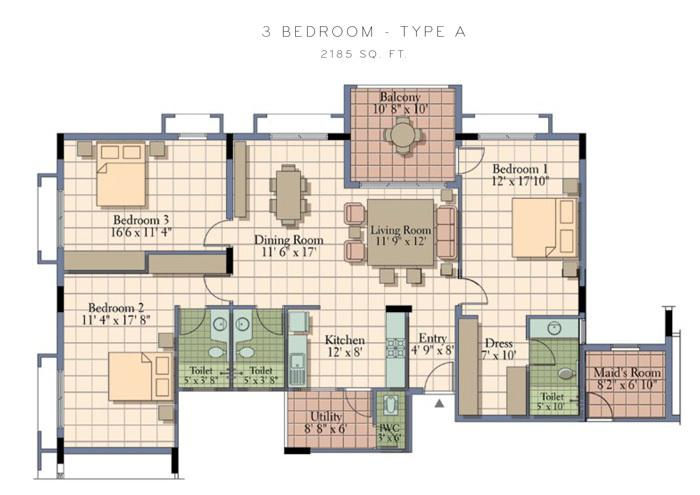 UKN Bel Vista, Bangalore - Floor Plan