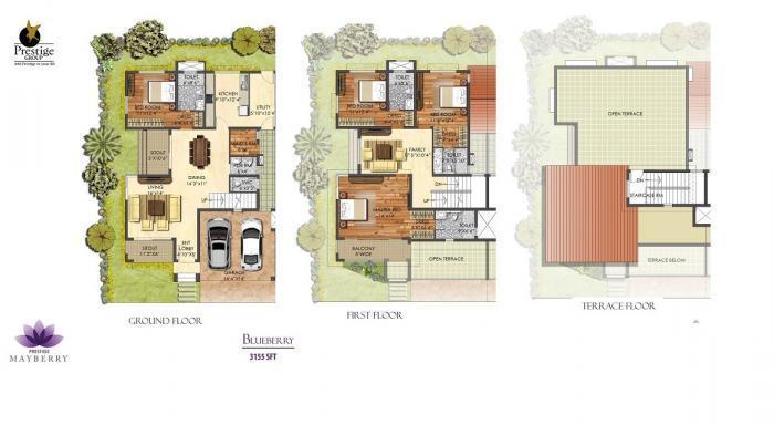 Prestige Mayberry, Bangalore - Floor Plan