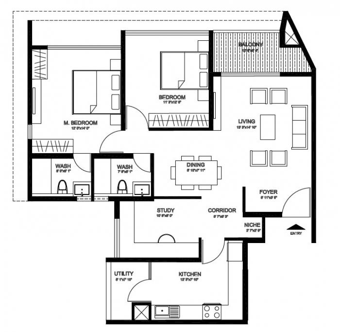 Godrej United, Bangalore - Floor Plan