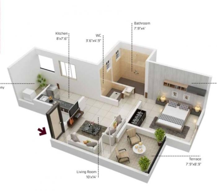 Achalare Citrine, Pune - Floor Plan