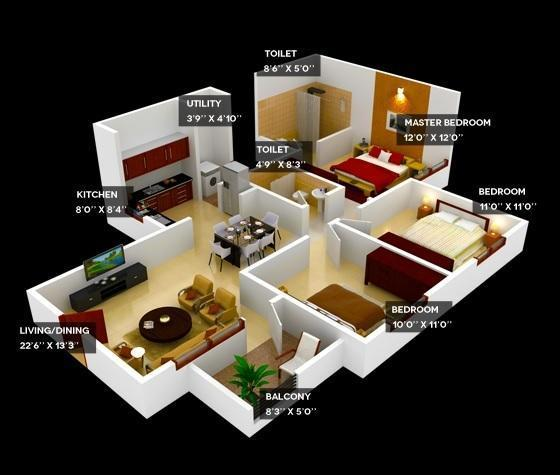 Provident WelWorth City, Bangalore - Floor Plan