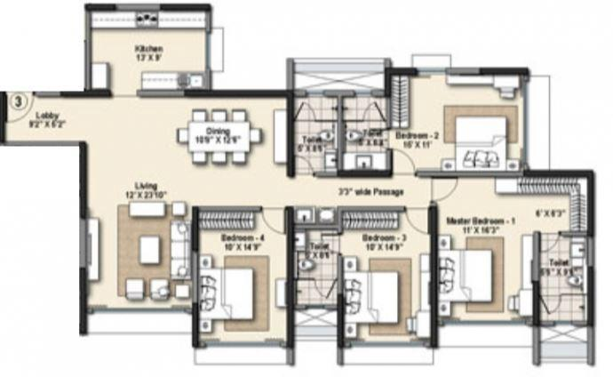 Raheja Ridgewood, Mumbai - Floor Plan
