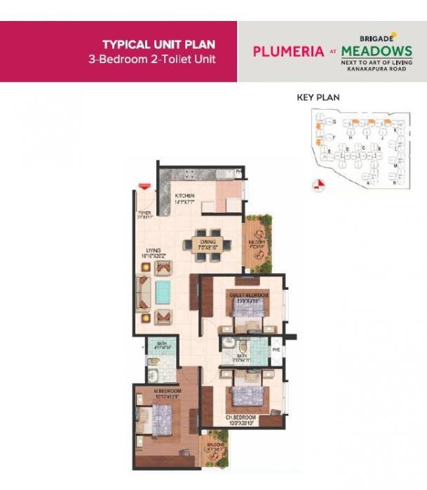 Brigade Meadows Plumeria, Bangalore - Floor Plan