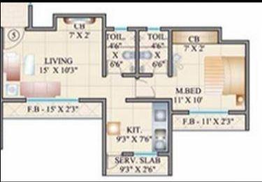 Parmar 27 GBR Alpha And Beta, Thane - Floor Plan
