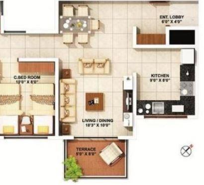 ARK Prem Alfa Greenfields, Pune - Floor Plan
