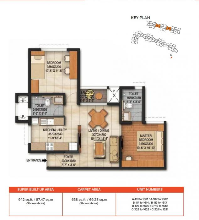 Brigade Panorama, Bangalore - Floor Plan