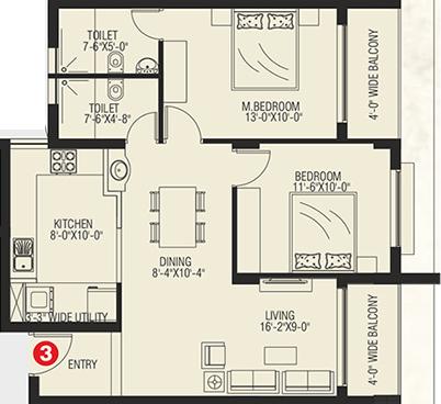 Nidhi Land Safal Homes, Mangalore - Floor Plan