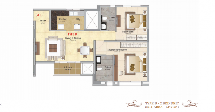 Prestige MSR, Bangalore - Floor Plan