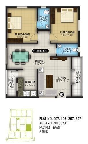 ARS Greenshire, Bangalore - Floor Plan