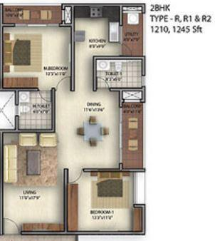 Golden Bhuvana Greens, Bangalore - Floor Plan