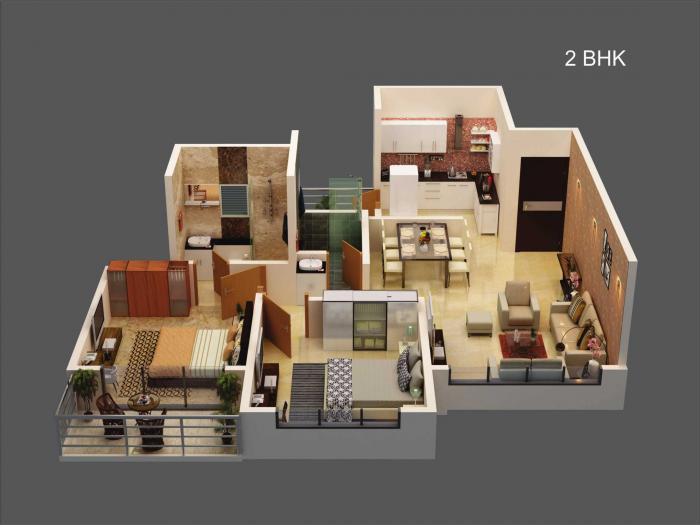 Ganga New town, Pune - Floor Plan