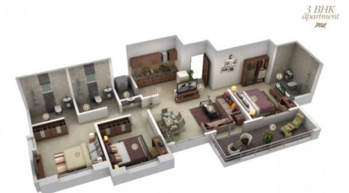 Maa Sankalp Sai Dwarika, Pune - Floor Plan