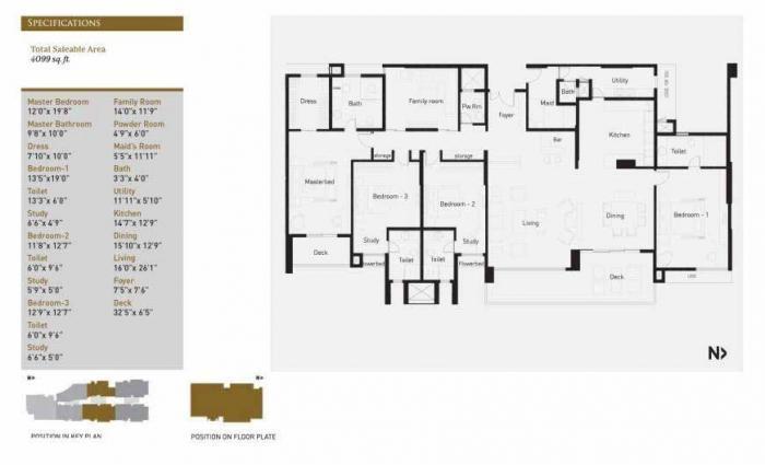 KMB La Palazzo, Bangalore - Floor Plan