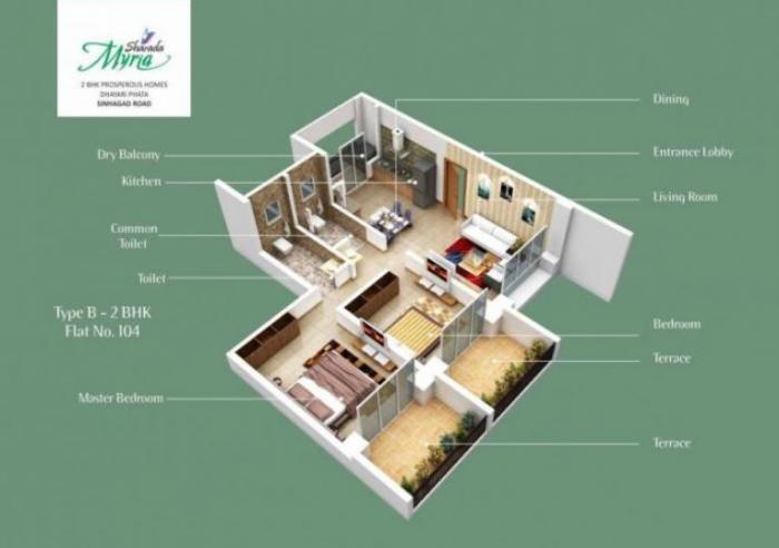 Sharada Myria, Pune - Floor Plan