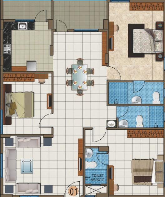 Srinis Viviana, Bangalore - Floor Plan