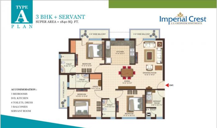 Gandharva Imperial Crest, Lucknow - Floor Plan