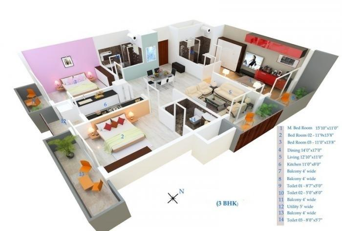 MSR Blue Petals, Bangalore - Floor Plan