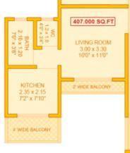 Gajanan Vatika Residency, Mumbai - Floor Plan