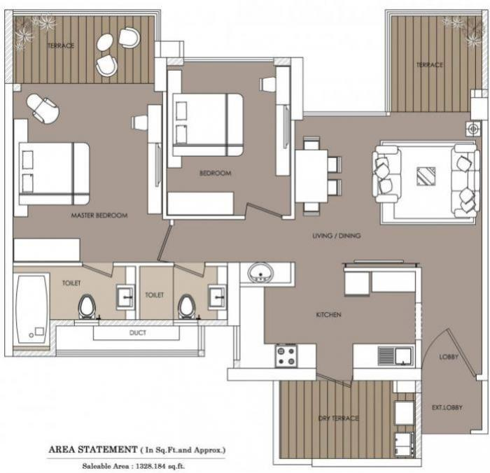 Eiffel F Residences, Pune - Floor Plan