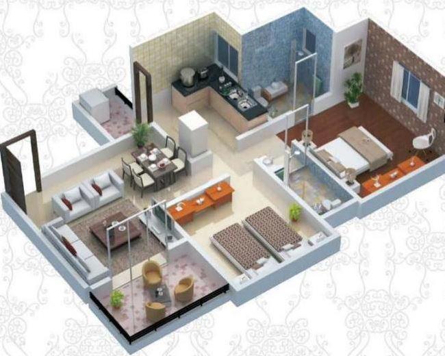 Sonigara Blue Dice Phase I, Pune - Floor Plan