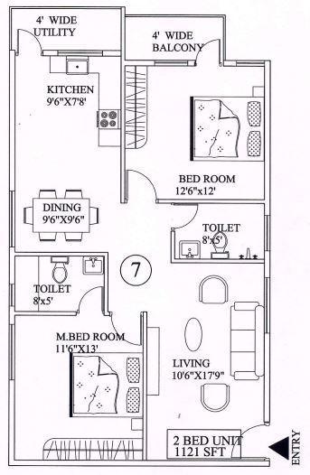 Vascon Pristina, Bangalore - Floor Plan