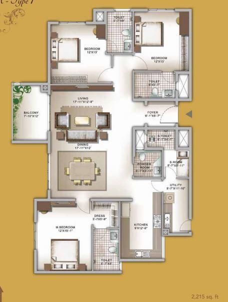 Legacy Eldora, Bangalore - Floor Plan