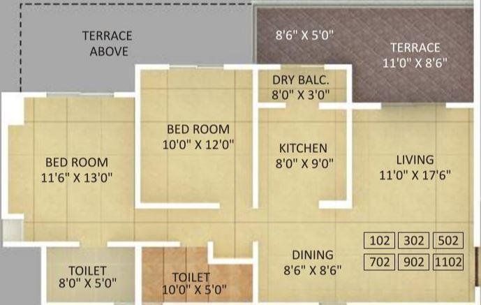 Alcon Signare, Pune - Floor Plan