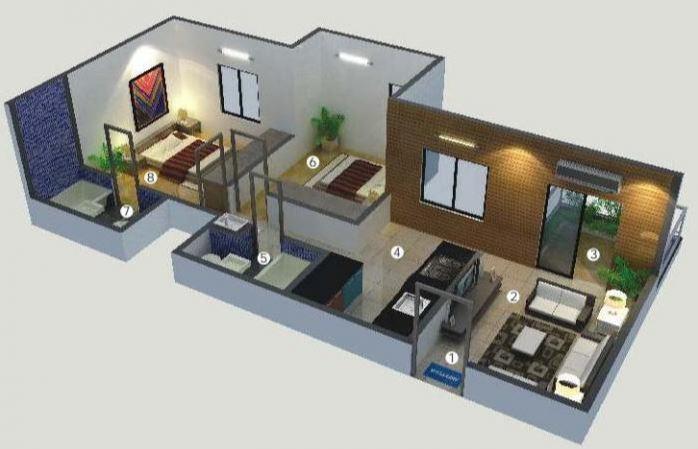Divyanand Shanti Elixir, Pune - Floor Plan