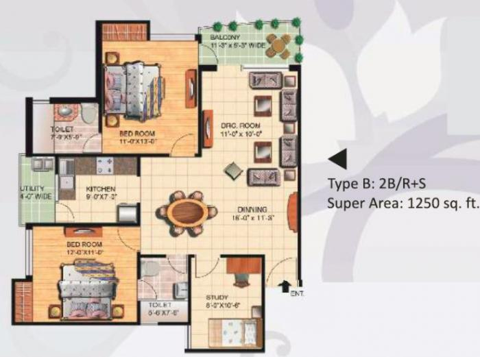 Great Value Sharnam Homes, Noida - Floor Plan