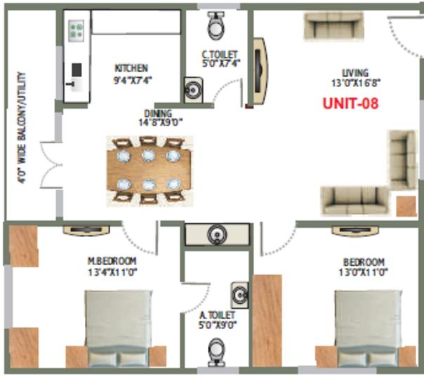 Sree Maheswara Shangri La, Bangalore - Floor Plan