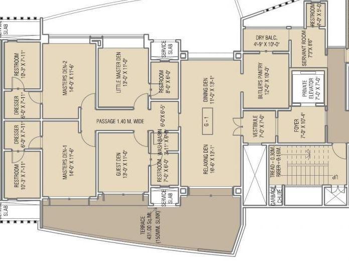 G M Kenjale Emirus Apartment, Pune - Floor Plan