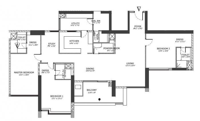 Mantri Centrium, Bangalore - Floor Plan