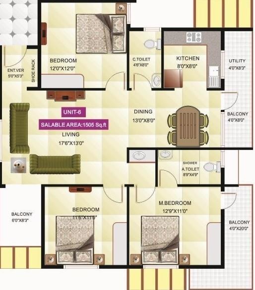 Sri Bhagwan Embassy, Bangalore - Floor Plan