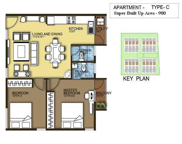Mayur Brundavan, Bangalore - Floor Plan