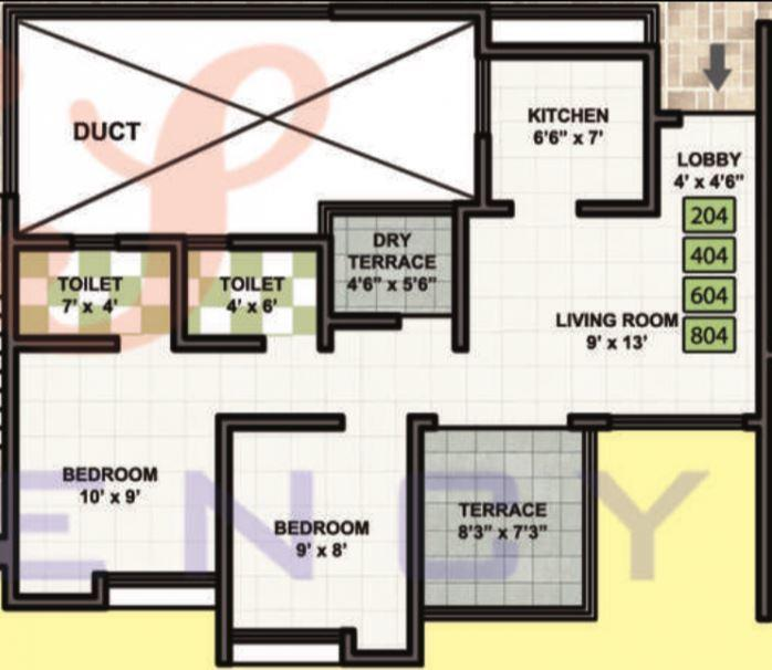 Anand Yes Residency, Pune - Floor Plan