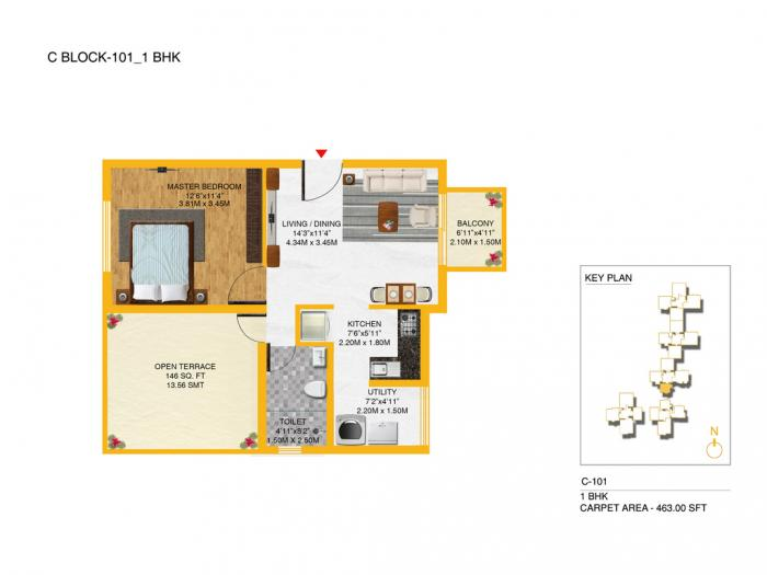 Kolte Patil I TOWERS Exente, Bangalore - Floor Plan