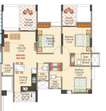 Mantra Parkview, Pune - Floor Plan