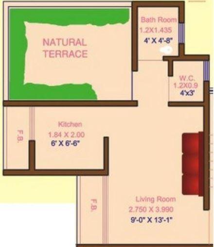 Radiance Maple Woods, NaviMumbai - Floor Plan