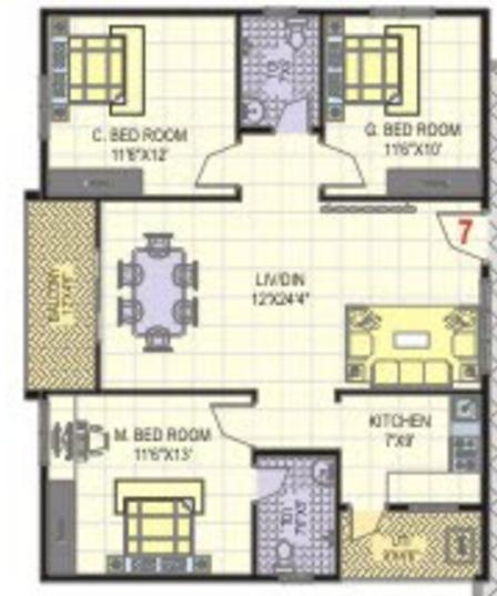 Nava Sannidhi, Bangalore - Floor Plan