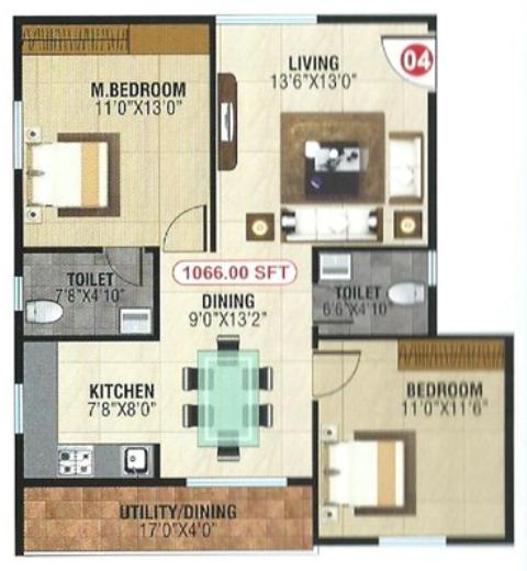 Sai Johith Homes, Bangalore - Floor Plan