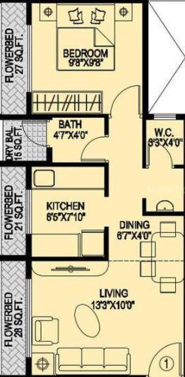Soham Avenue, NaviMumbai - Floor Plan