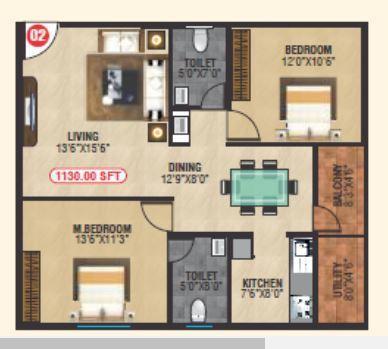 BM Luxuria, Bangalore - Floor Plan