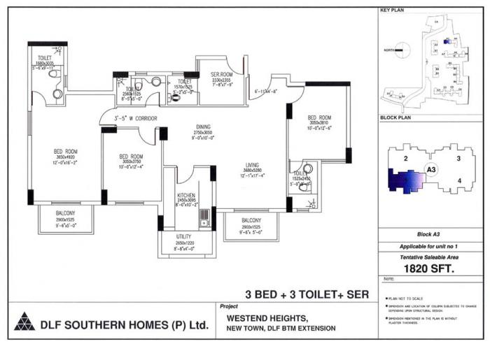 DLF Westend Heights New Town, Bangalore - Floor Plan